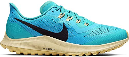 Nike Air Zoom Pegasus 36 Trail Women's Running Shoe LT Current Blue/Oil Grey-Teal Nebula Size 8.0