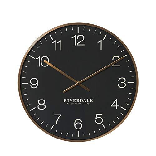 Riverdale Wandklok Camden zwart 53cm