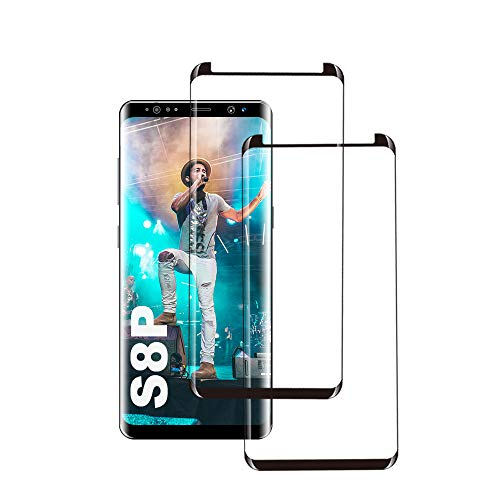Galaxy S8 Plus Panzerglas Schutzfolie, [2 Stück] 3D Hohe Qualität Gehärtetem Glass [HD Clear] [Blasenfrei] [9H Härte] [Anti-Kratzer] [Case Friendly] Panzerglasfolie für Samsung Galaxy S8 Plus