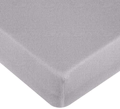 Träumeland TT02163 Spannbetttuch Jersey dunkelgrau, 60 x 120 + 70 x 140 cm, mehrfarbig