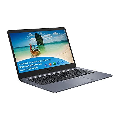 ASUS VivoBook with Microsoft Office 365 - E406NA 14 Inch HD Laptop (Intel Celeron N3350, 4GB RAM,...