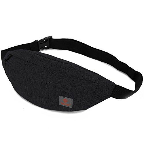 Nouveau UK bumbags et Fanny Packs avec 4 poches zippées pour Femmes Hommes Taille Bum Sac
