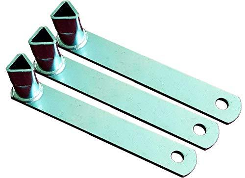 UvV DK3223 Dreikantschlüssel nach DIN 3223, für Absperrpfosten mit Dreikantverschluss, verzinkt blau passiviert (3er Set)