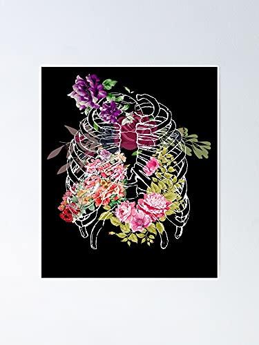 Situen Pster floral de la jaula de la costilla  para la decoracin de la sala de juegos, impresin de los nios, arte de la pared del vivero, decoracin de la habitacin imprimible.