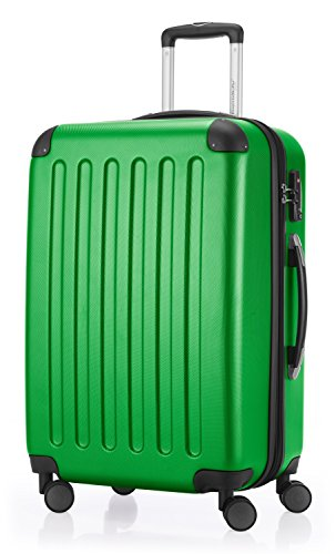 HAUPTSTADTKOFFER - Spree - Hartschalen-Koffer Koffer Trolley Rollkoffer Reisekoffer Erweiterbar, TSA, 4 Rollen, 65 cm, 74 Liter, Grün