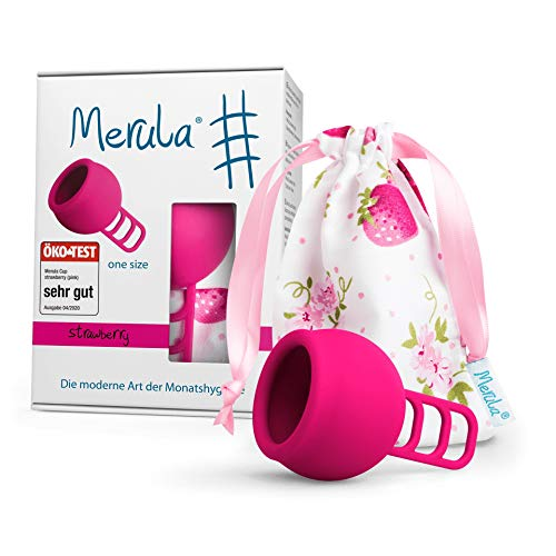 Merula Cup strawberry (rosa)'one size' - Coppetta mestruale in silicone medicale