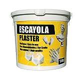 Escayola sintética Tipo III Extra Blanca para artesanía, ideal para moldes de látex, proyectos de artesanía, Uso Dental, 1,5 kg de material, kit de moldeo manual de escayola