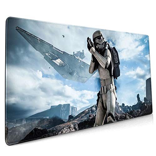Star Wars Large Gaming Mouse Pad Office Non-Slip Mouse Pad 35.4x15.7x0.1 Inches