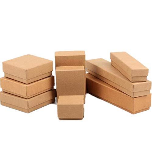 PLUS PO geschenkbox groß kleine Schachteln Brown Ring Box Multifunktions-Halskette Box Kleine Geschenkboxen für Schmuck Großer Ohrringkasten Set