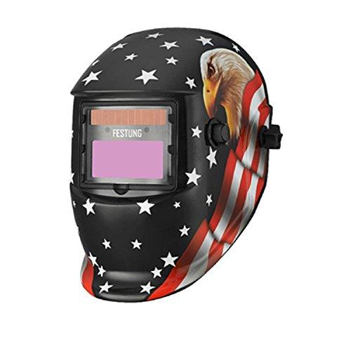 DOIT Auto Darkening Welding Helmet Eagle Design 9-13 for Tig Mig Arc Welder Mask Shield,Professional Hood with Wide Lens Adjustable Shade SKULL Design