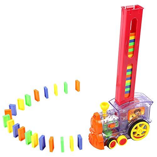 XHXseller - Juguete educativo modelo de tren, tren Domino, juegos de tren, juguete de educación preescolar para todo niño, regalo de cumpleaños de Navidad para niños