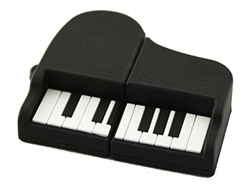 Ulticool Piano Vleugel Muziek 8 GB USB-stick - 2.0 - Keyboard Music USB Flash Drive - Origineel Cadeau voor Man en Vrouw - Dataopslag - Zwart Wit