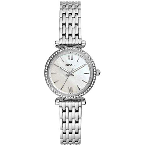 Fossil dames analoog kwarts horloge met roestvrij stalen armband ES4647