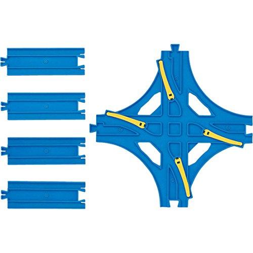 R-14 Crossed Point Rail (w/Half Straight Rail 4 pieces)