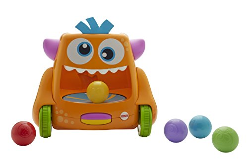 Fisher-Price FHD56 Zoom-N-Crawl Monster Activity, Baby Ball Activity Push Along Toy for Walking or Crawling, Suitable for 9 Months Plus