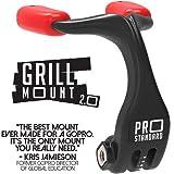 Pro Standard Parrilla Mount 2.0 - El mejor soporte bucal compatible con cámaras GoPro (negro/rojo)