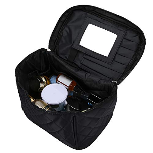 Makeup Bag Travel Makeup Case Portable Folding Cosmetic Tool Storage Bag Travel Toiletry Organizer Bag with Mirror