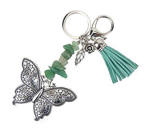 Ella Jonte Taschenanhänger Schmetterling Silber Jade Schlüsselanhänger Geschenk