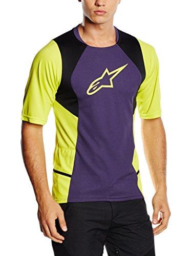 Alpinestar Cycling Camiseta Manga Corta Violetto/Giallo S