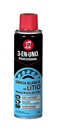 Grasa Blanca de Litio - 3 EN UNO 34453 Profesional - Spray 250 ml, Transparente