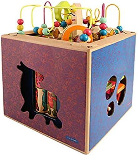 auténtico Juego Educativo de Juguetes,Cubo de Actividad Actividad Actividad Multifuncional de Madera, Bolas Maze Roller Coaster Preescolar Educación temprana Caja de Juguetes de xilófono para Niños Niños Niños niñas  Envío rápido y el mejor servicio