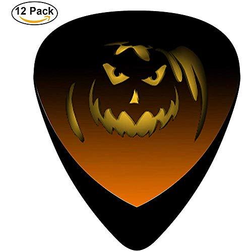 Beyond Loser Plektren Guitar Picks Klassische Halloween Kürbis Gesicht Design Plektren (12er Pack)