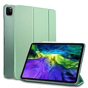 MS factory iPad Pro 11 2020 ケース カバー Pro11 第2世代 Apple Pencil ワイヤレス充電 対応 アイパッド プロ 11インチ ipadpro スマートカバー オートスリープ 全6色 ティーグリーン 緑 IPDP11/2-SMART-TGR