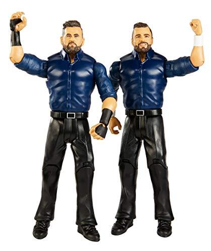 Mattel GBN57 - WWE Basis Actionfiguren (15 cm) 2er-Pack Sunil Singh & Samir Singh, Spielzeug ab 6 Jahren
