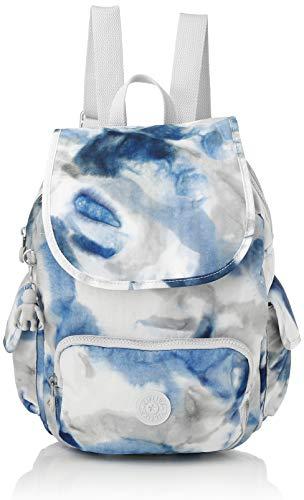 Kipling City Pack S - Zaini Donna, Multicolore (Tie Dye Blue), 27x33.5x19 cm
