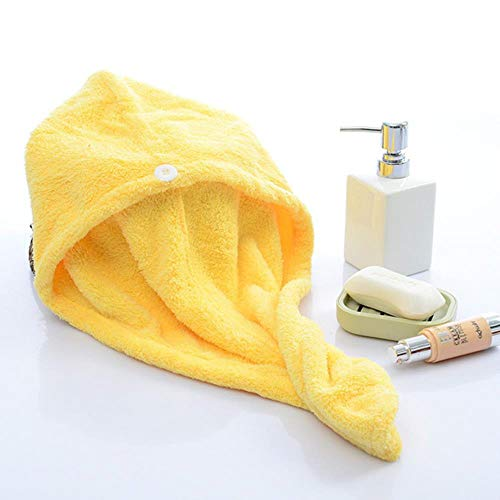 Yukis Little Store - Toalla de pelo seco de microfibra de secado rápido para mujeres y niñas, secado rápido, gorra de sombrero para hombre, turbante