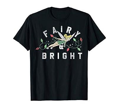 Disney Peter Pan Tinker Bell Christmas Lights Fairy & Bright T-Shirt
