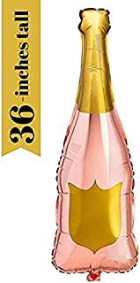 Paper Confetti Champagne Bottle Balloon, Rose Gold Party Decorations, 21st Birthday, Engagement Party Decorations, Bachelo...