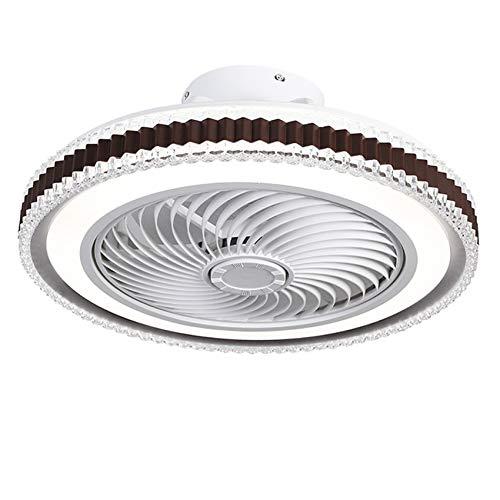 JMSTT Ventilador, Dormitorio, Restaurante, Ventilador Invisible, Ventilador de Techo Integrado en el hogar, Luces de Ventilador de Techo,B