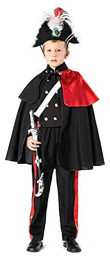 VENEZIANO Costume di Carnevale da CARABINIERE Alta Uniforme Baby Vestito per Bambino Ragazzo 1-6 Anni Travestimento Halloween Cosplay Festa Party 51162 Taglia 4
