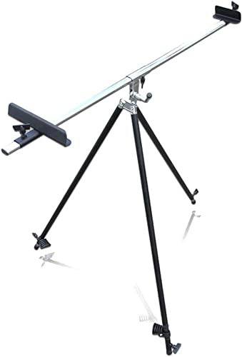 SHWSM Chevalet télescopique en métal Pliant, utilisable en parallèle, Facile à réaliser, trépied Noir 65  72cm chevalet