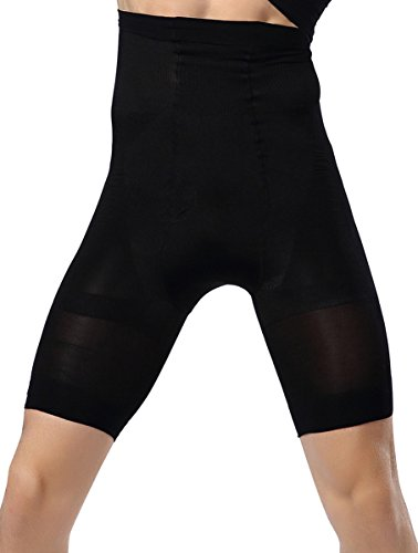 Gaine Homme Ventre Plat Amincissant Boxer Push up Culotte Gainante Montre Hanche Fesse Fantaisie Sexy Sport Taille Haute Extensible L Noir