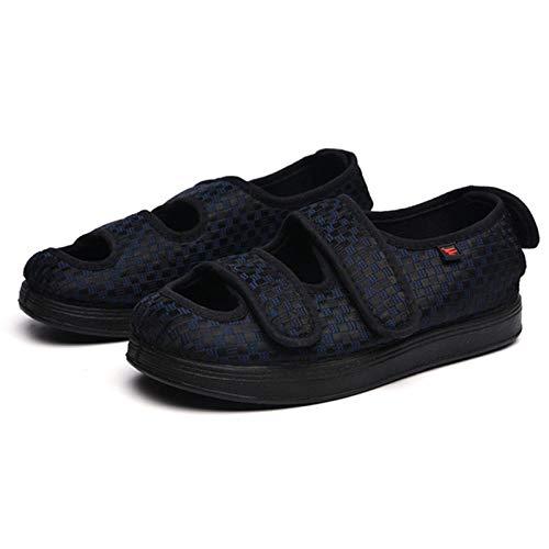 LWQ Extra Breite Diabetiker-Schuhe,Schuhe für verletzte Füße, geschwollene Füße, Valgus-Schuhe, Schuhe mittleren Alters und Diabetiker-Blue_42