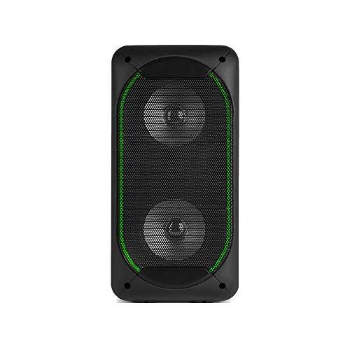 Fenton SBS60 Partylautsprecher Partyspeaker Karaoke, 2 x 4 Lautsprecher, 50 Watt, Bluetooth, USB/SD, AUX-In, schwarz