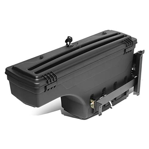 DNA Motoring ZTL-Y-0123 Left Side Truck Bed Wheel Well Tool Box Storage Case