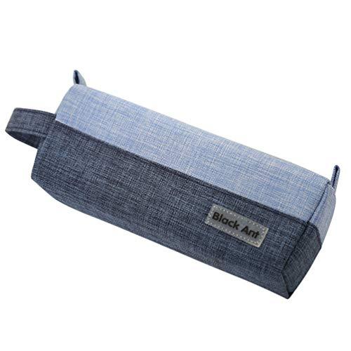 TOYANDONA 1 St Canvas Potloden Tassen Rits Briefpapier Vintage Blauwe Potlood Doos Grote Capaciteit Potlood Etui School Pennenkoker Voor Studenten
