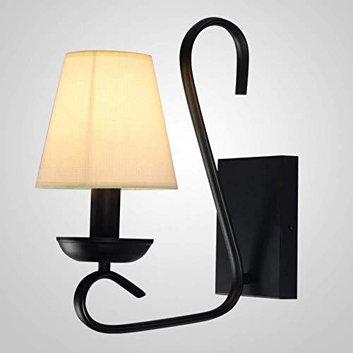 XZhstes LED Moderna Luz de Pared Sconence Sala de Estar Lámpara de Pared de Noche Retro Pasillo Interior Pasillo Pasillo Lámpara de Pared, Negro, A (Tamaño: 29 * 16 * 35cm)