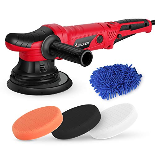 AVID POWER Dual Action Polisher, 21mm Long-Throw Orbital Polisher, 6 Inch Variable Speed Car Buffer kit with 3 Buffing Pads & Side Handle for Car Polishing and Waxing