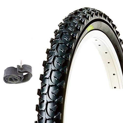 COPERTONE NERO MTB 26 X 1.95 (50-559) + CAMERA D'ARIA BICI BICICLETTA MOUNTAIN BIKE
