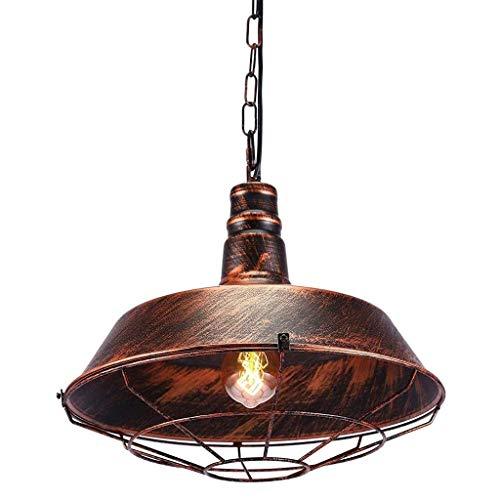TRPYA Iron Dining Retro Chandelier E27 Iluminación, Lámpara Industrial de óxido Industrial, Sala de Estar Mesa de Comedor Luz Colgante, lámpara Colgante forjada
