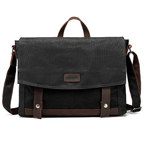 Mens Messenger Bag Waterproof 15.6 Inch Laptop Briefcase Large Shoulder Bag Black