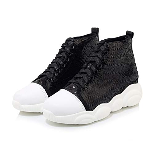Dames Hoge Top Sneakers Hardlopen Basket Tenis Sportschoenen Platform Stijlvolle pailletten Outdoor Atletische Wandelen Casual Trainers