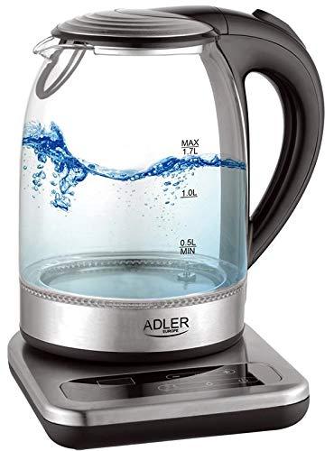 Adler AD 1293 Bouilloire avec contrôle de la température, Transparent