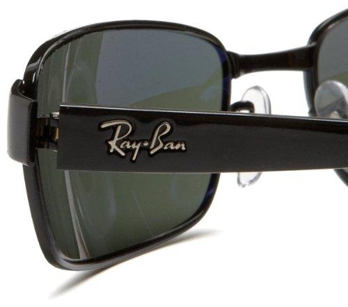 Fashion Shopping Ray-Ban Rb3364 Rectangular Metal Sunglasses