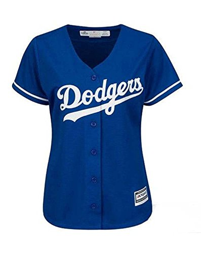 Majestic Los Angeles Dodgers Womens Jersey Blue (Large)