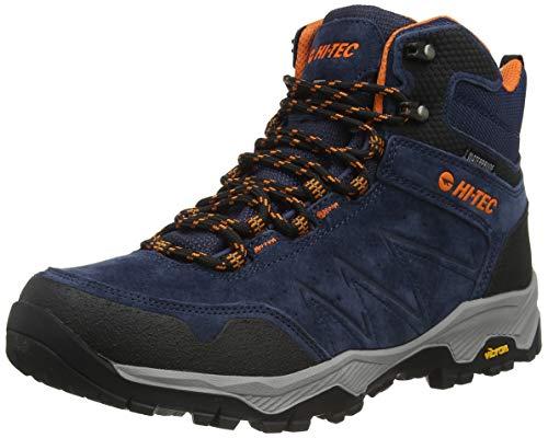 Hi-Tec Men's Endeavour WP Walking Shoe, Navy/Black/Orange, 12 UK